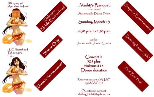Vashti's banquet for centerpieces